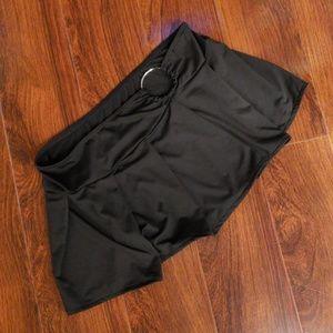 Dresses & Skirts - Black Skirt With Silver Hoop